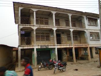 a Vacant 2 Storey Building  Tenement House with  22 No Rooms and 3 Shops on a Plot of Land, Apara Area Not Far From Oja Oba, Akinyele, Oyo, Block of Flats for Sale