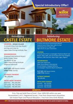 Land, Biltmore Estate Is Located at Ibeju-lekki After Eleko Junction Before La Capagne, Ibeju, Lagos, Residential Land for Sale
