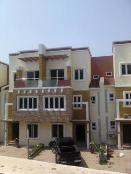 Nice 4 Bedroom Terrace Duplex with Bq, Close to Family Worship Church, Wuye, Abuja, Terraced Duplex for Rent