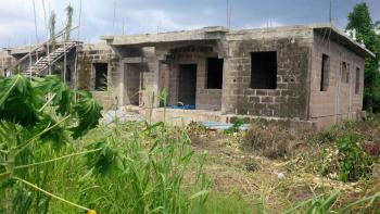Uncompleted 4 Bedroom Duplex with 2 Bedroom Flat, Laderin Estate Extension, Abeokuta North, Ogun, Semi-detached Duplex for Sale