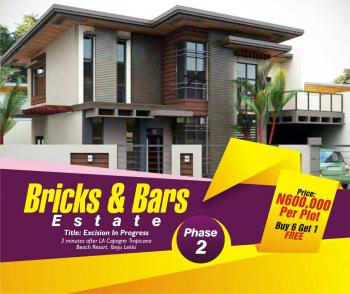 Land, Bricks and Bars Estate Phase Ii, Akodo Ise, 3minutes From Lacampagne Tropicana Beach Resorts, Ibeju Lekki, Lagos, Residential Land for Sale