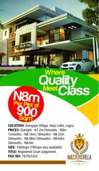 Maters Villa, Awoyaya, Ibeju Lekki, Lagos, Residential Land for Sale