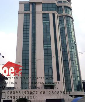 Serviced Office Spaces with Lift , Parking Etc., 60, Marina Street, Marina, Lagos Island, Lagos, Office Space for Rent
