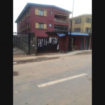 a Block of 6(nos) Flats 3(2 & 3-b/r Flat Each) with Another 1-bedroom Bungalow at The Rear & 3 Frontal Shops on a Tarred Street, Off Dopemu Road, Dopemu, Agege, Lagos, Block of Flats for Sale