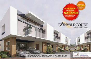 Secure a Unit | 3 Bedroom Terrace Apartment, Dunvale Court,  Lafiaji (after Orchid Hotel By Second Toll Gate), Lekki, Lagos, Terraced Duplex for Sale