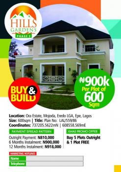 Landed Property with Good Titles and Dry, Pazino Ecc, Epe, Lagos, Residential Land for Sale