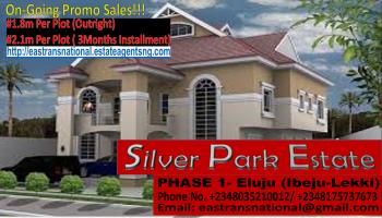 Hott Promo Sales!!! Silver Park Estate Phase 1(iluju-ibeju Lekki) @ N1.8m per Plot!, Located in Iluju Part of Ibeju-lekki, Awoyaya, Ibeju Lekki, Lagos, Mixed-use Land for Sale