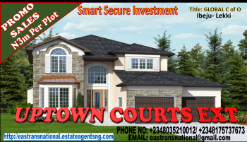 Smart, Secure & Most Affordable Investment! Uptown Courts Extension, Off Cherrywood Drive, Vaifero Road, Lekki Free Trade Zone, Lekki, Lagos, Residential Land for Sale