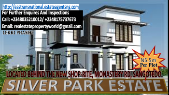 Grab This Opportunity & Invest Wisely in The New Shop-rite (sangotedo) Silver Park Estate Phase 5 Lekki, Located Behind The New Shop-rite/ Navare Mall, Monastery Road, Sangotedo, Ajah, Lagos, Mixed-use Land for Sale