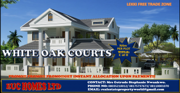 Top Quality Investment! Massive on-going Daily Constructions/ Rapid Development! White Oak Courts @ N4m per Plot with C of O, Located on Cherrywood Drive, Oshoroko, Lekki Free Trade Zone, Lekki, Lagos, Mixed-use Land for Sale