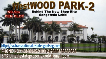 Invest in The New Shop-rite/ Navare Mall! Westwood Park Phase 2 @ N9.5m per Plot with C of O, Located Behind The New Shop-rite/ Navare Mall, Monastery Road, Sangotedo, Ajah, Lagos, Mixed-use Land for Sale