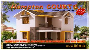 Hampton Courts @ N2m per Plot Onosa Ibeju Lekki, Located in Onosa Part of Ibeju Lekki, Lekki Expressway, Lekki, Lagos, Residential Land for Sale