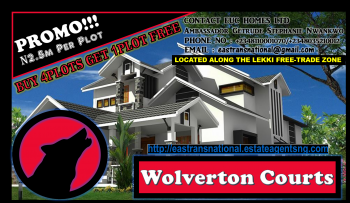 Best Saver!!! Mega Promo Sales!!! Buy 4plots Get 1plot Free!!! Wolverton Courts@ N2.5m per Plot!, Located Along The Lekki Free Trade Zone Major Coastal Express Road, 3mins Away From Amen Estate & 10 Mins Before The Lekki Free Trade Zone, Lekki Expressway, Lekki, Lagos, Mixed-use Land for Sale