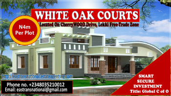 Exquisite Architectural Estate Design!!! White Oak Courts, Gated/fenced, Located on Cherrywood Drive, Oshoroko, Lekki Free Trade Zone, Lekki, Lagos, Mixed-use Land for Sale