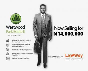 Land for Sale at Sangotedo Ajah Westwood Park Estate 2, Off Monastery Road, Sangotedo, Ajah, Lagos, Residential Land for Sale