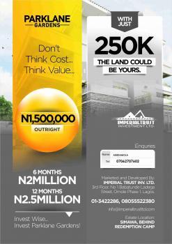 Plots of Land, Parklane Gardens, By Lotto Bus Stop, Lagos/ibadan Expressway., Simawa, Ogun, Residential Land for Sale