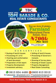 Good & Affordable Farm Land for Sale Within a Farm Estate Close to Lagos (siun)., Moloko Asipa, Siun, Off Sagamu-abeokuta Expressway, Ogun State, Sagamu, Ogun, Commercial Land for Sale