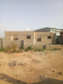 Near Complete Three Bedroom Bungalow, Behind Nia Senior Staff Quarters, Karu, Abuja, Detached Bungalow for Sale