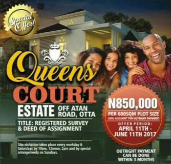 Queens Gardens City, Off Atan Road, Sango Ota, Ogun, Residential Land for Sale