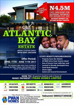 Atlantic Bay, Awoyaya, Ibeju Lekki, Lagos, Mixed-use Land for Sale