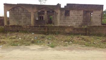 Uncompleted 4 Bedrooms Bungalow on a Half Plot of Land, Olorunkole Estate, Phase 1, Obafemi Owode, Ogun, Detached Bungalow for Sale