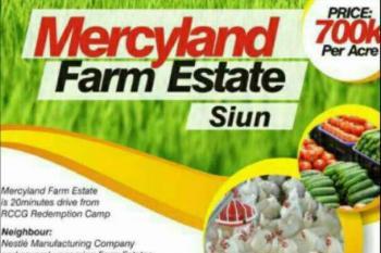 Own Your Own Farm Estate, Siun. Along Sagamu -abeokuta Expressway, Sagamu, Ogun, Commercial Land for Sale