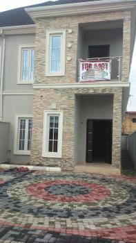 Nicely Built 4 Bedroom Semi Detached + 1 Room Bq, Osapa, Lekki, Lagos, Semi-detached Duplex for Sale