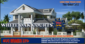 Smart Wise Investment in Lekki !!! White Oak Courts with C of O, Located Along Cherrywood Drive, Facing The Road, Lekki Free Trade Zone, Lekki, Lagos, Mixed-use Land for Sale
