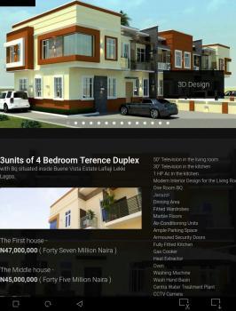 4 Bedroom Terence Duplex with Bq, Buene Vista Estate, Off Orchid Road, Lekki, Lagos, Terraced Duplex for Sale