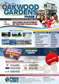 Oakwood Garden Phase 2, Along Lekki Free Trade Zone Road, Ibeju Lekki, Lagos, Mixed-use Land for Sale