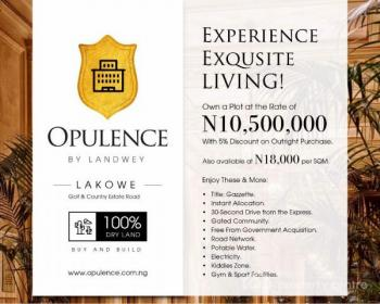 Lovely Smart Buy to Build Land in an Already Built Up Environment with Over 27 Golf Holes Along Lakowe Golf Road - Opulence Estate, Along Lakowe Lakes and Golf Course Resort, Awoyaya, Ibeju Lekki, Lagos, Commercial Land for Sale