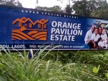 Land, Orange Pavilion Estate, Agbowa, Ikorodu, Lagos, Residential Land for Sale