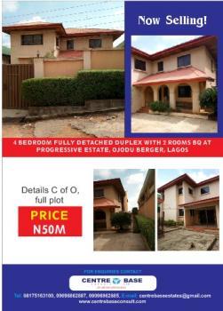 Tastefully Finished 4 Bedroom Fully Detached Duplex + 2 Rooms Bq, Progressive Estate, River Valley Estate, Ojodu, Lagos, Detached Duplex for Sale