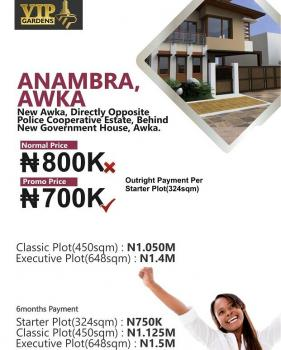 Vip Gardens, Behind New  Government House, Awka, Anambra, Residential Land for Sale