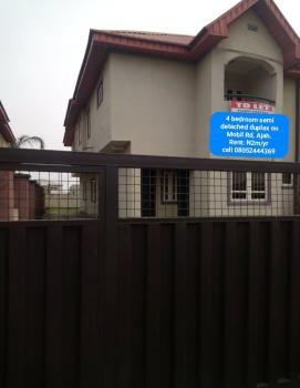 4 Bedroom Semi Detached Duplex + 2 Rm Bq, Off Mobil Road, Lekki Phase 2, Lekki, Lagos, Semi-detached Duplex for Rent