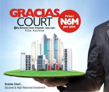 Gracias Court Scheme 1, Back of Novare Shoprite (largest Shoprite in Africa), Sangotedo, Ajah, Lagos, Residential Land for Sale