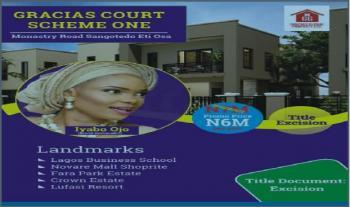 Land with Excision, Behind Novare Shoprite, Monastery Road, Sangotedo, Ajah, Lagos, Land for Sale