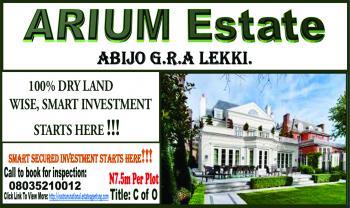 Secured Investment with C of O!!! Arium Estate Abijo. Lekki., Arium Estate, Beside Chois Gardens,  Abijo G. R. a, Abijo, Lekki, Lagos, Residential Land for Sale