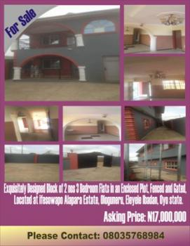 an Exquisitely Designed Block of 2 Nos 3 Bedroom Flats in an Enclosed Plot, Fenced and Gated, Ologuneru, Eleyele, Iseyin, Oyo, Flat for Sale