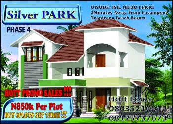 Buy 6 Plots Get 1 Free!!! Silver Park Estate Phase 4, Facing The Major Express Road,  2minutes Away From Lacampyne Tropicana Beach Resort, Owode- Ise, Lekki Free Trade Zone, Lekki, Lagos, Mixed-use Land for Sale