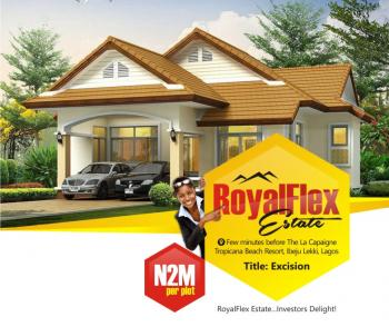 Excision {royal Flex Estate}, Few Minutes Before The La Capaigne Tropicana Beach Resort, Directly Facing The Lftz Expressway, Ibeju Lekki, Lagos, Residential Land for Sale