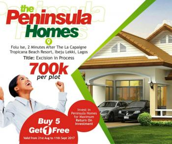 Cheap Land with Excision in Process Ibeju Lekki, Folu Ise, 2 Minutes Drive From La Campaigne Tropicana Beach Resort, Ibeju Lekki, Lagos, Residential Land for Sale