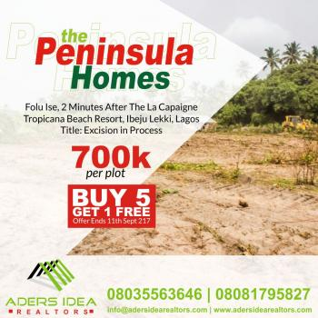 The Peninsula Homes, Folu-ise Road, About 2minutes to La Campagne Tropicana Beach Resorts, Free Trade Zone, Ibeju Lekki, Lagos, Land for Sale