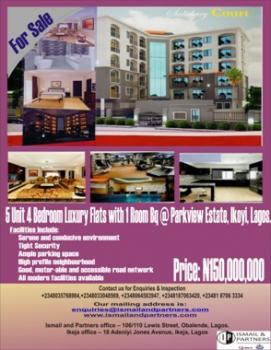Spacious 5 Unit 4 Bedroom Luxury Flats with a Room Bq, Parkview, Ikoyi, Lagos, Flat for Sale
