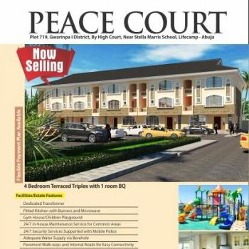 Luxury 4 Bedroom Terraced Houses with a Room Domestic Quarters (on 3 Floors), Beside Magistrate Court, After Stella Maris School, Life Camp, Gwarinpa, Abuja, Terraced Duplex for Sale