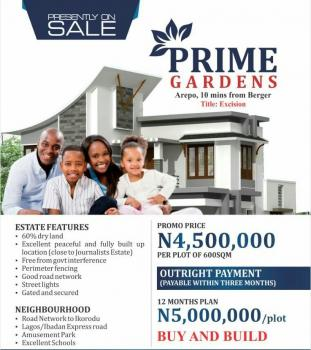 Prime Gardens  Estate, Arepo, Prime Gardens, Arepo 10 Mins Drive From Berger, Opic, Isheri North, Lagos, Mixed-use Land for Sale