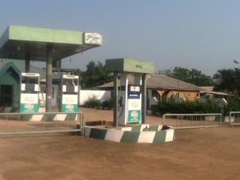 a Functional Petrol Station with an Uncompleted Hotel of 24 Rooms on 2 Acres of Land, Along Idiroko Road, Close to The Border, Obafemi Owode, Ogun, Filling Station for Sale