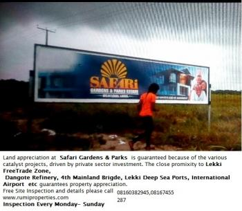 Safari Gardens and Parks, Free Trade Zone, Akodo Ise, Ibeju Lekki, Lagos, Land for Sale