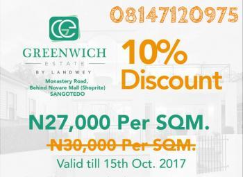 Greenwich Estate, Behind Shoprite, Sangotedo, Ajah, Lagos, Residential Land for Sale