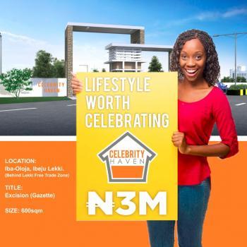 Key Into Celebrity Haven Estate, Iba Olaja Community, 5 Min Off The Lekki Expressway, Ibeju, Lagos, Mixed-use Land for Sale